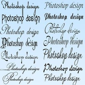 Скачать шрифты для фотошопа